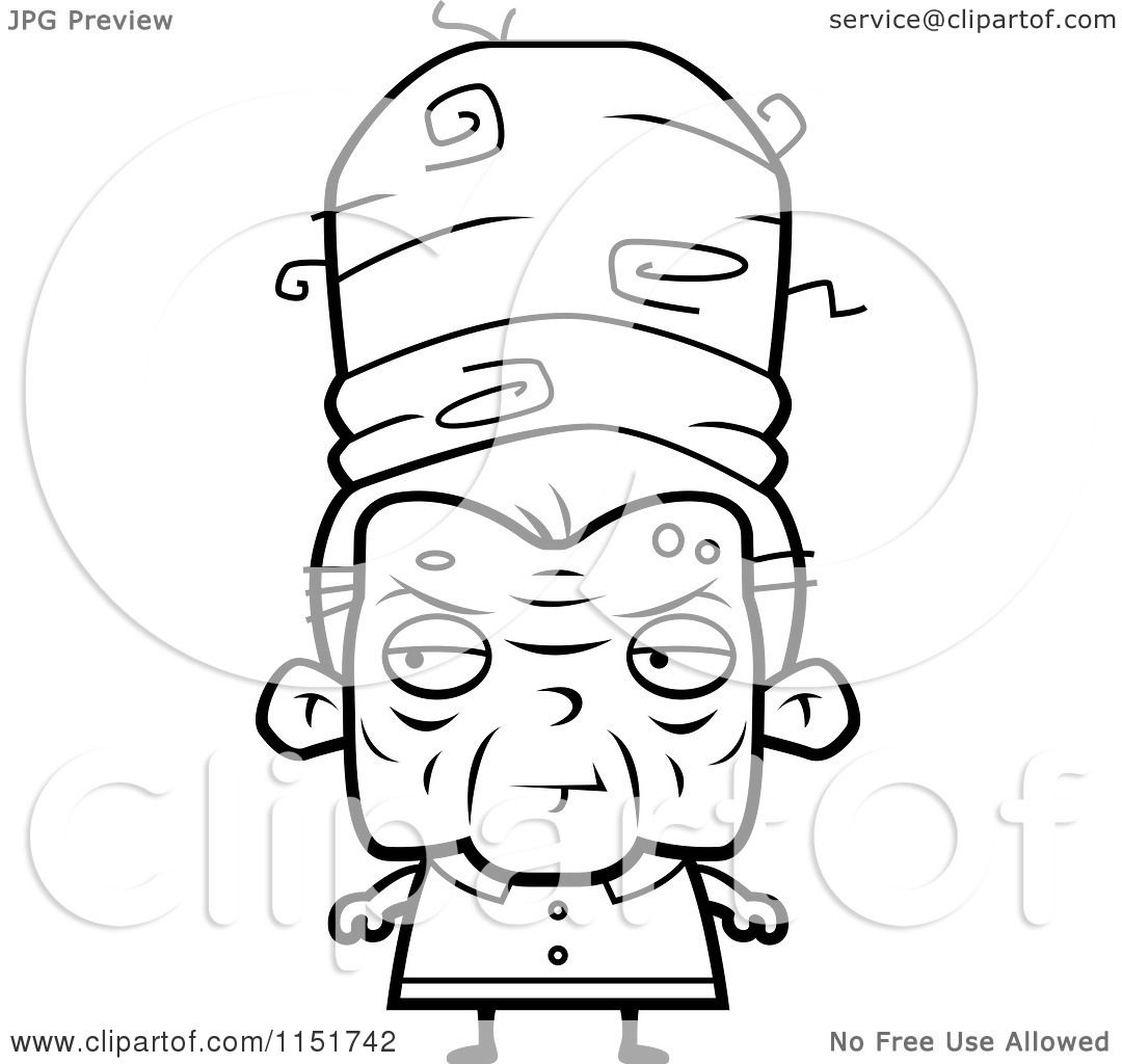 1080x1024 Cartoon Clipart Of A Black And White Old Lady With Tall Hair