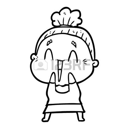 450x450 Cartoon Happy Old Lady Royalty Free Cliparts, Vectors, And Stock
