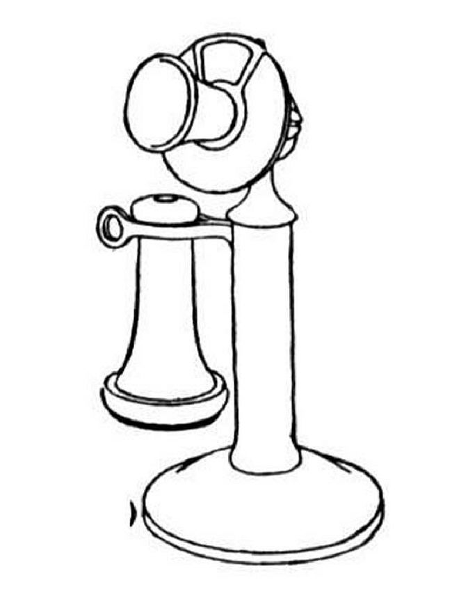 650x856 Vintage Telephone Coloring Page Telephone Coloring Pages