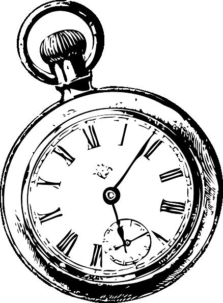 438x595 Pocket Watch Sketch Clip Art