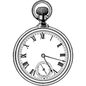 300x300 Pocket Watch Clipart Timepiece