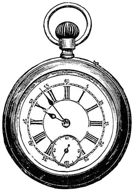 442x629 Gold Pocket Watch Clipart