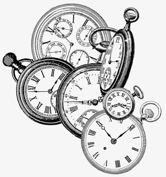 564x598 Hand Painted Pocket, Vintage Pocket Watch, Watch, Clock Png Image