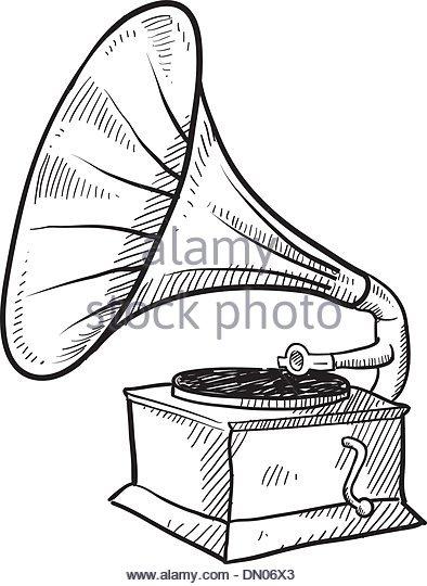 394x540 Vinyl Record Vector Sketch Stock Photos Amp Vinyl Record Vector