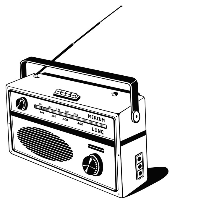Old School Boombox Drawing