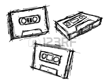 Old School Boombox Drawing at GetDrawings.com | Free for personal ...