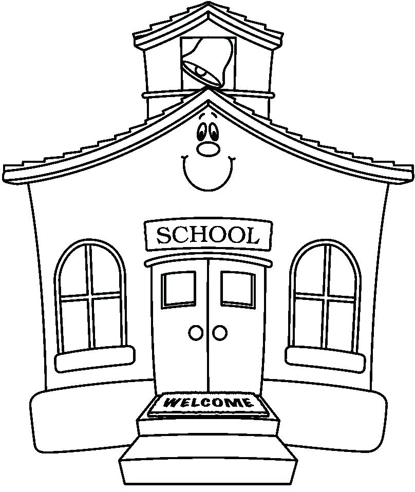 808x958 House Clipart Old School House 7 White House Clipart Outline