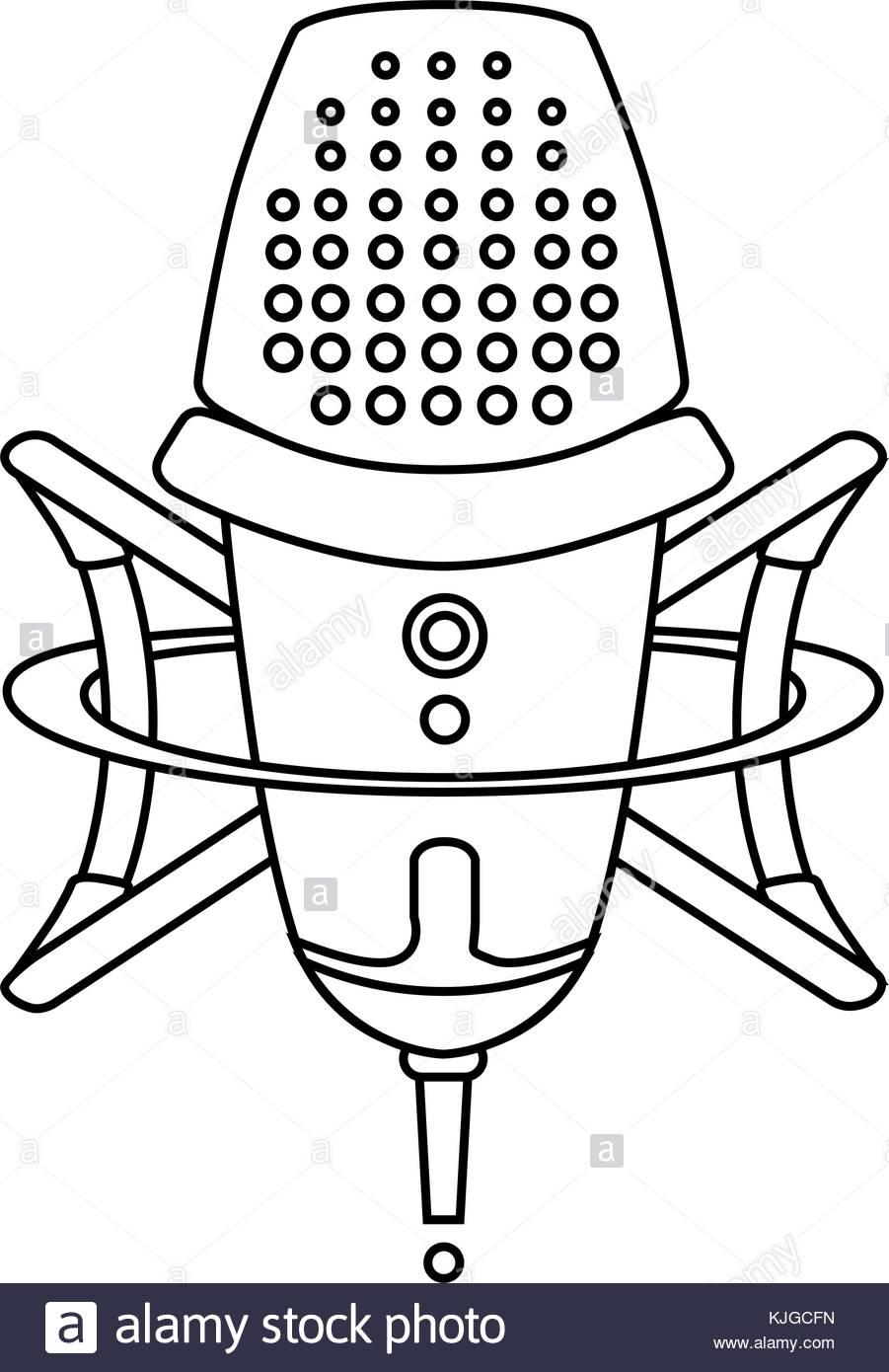 901x1390 Microphone Logo Stock Photos Amp Microphone Logo Stock Images