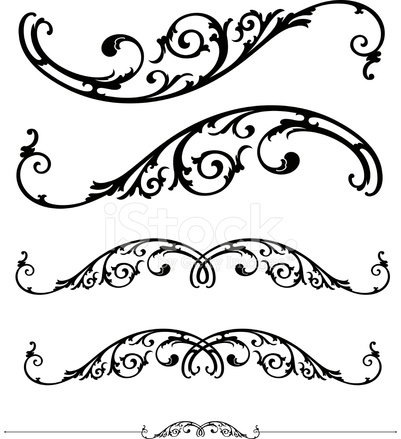 401x439 Scroll And Ruleline Design Stock Vector