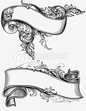 294x380 Vector Scrollwork Banners Old Pictures And Tags!