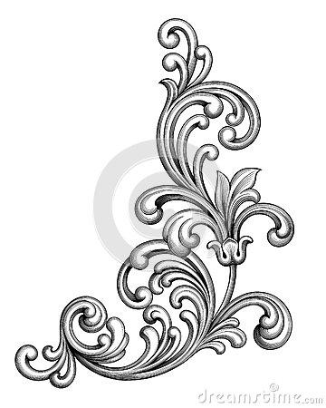360x450 Vintage Baroque Victorian Frame Border Monogram Floral Ornament