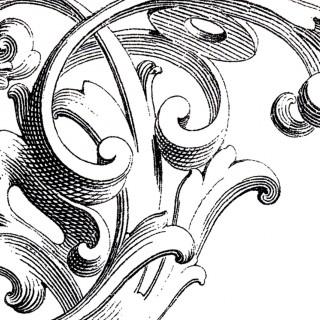 320x320 Antique Print Ornament Archives