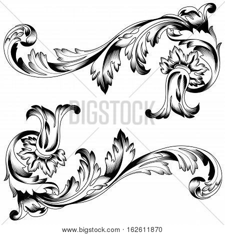 450x470 Vintage Ornament, Baroque Ornament Vector Amp Photo Bigstock
