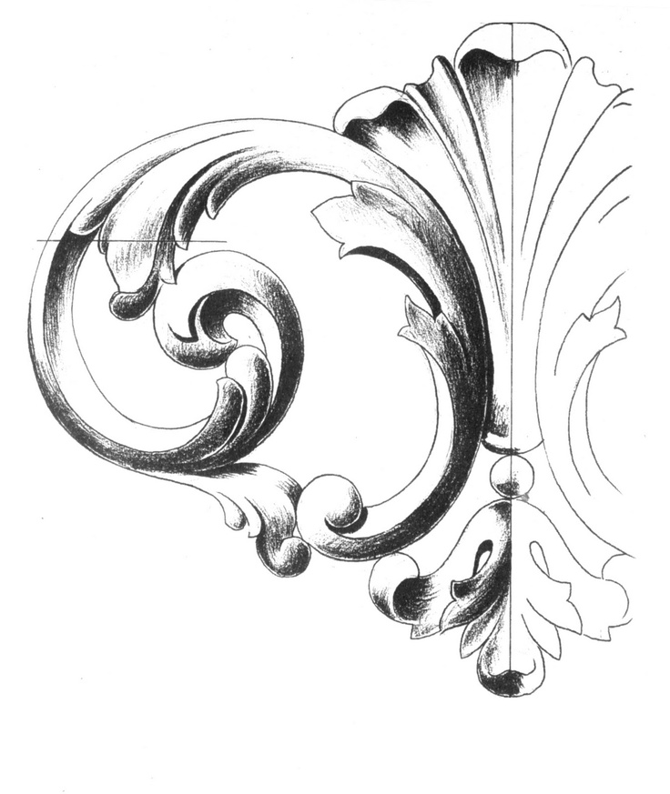 736x873 How To Draw Filigree Step By Step
