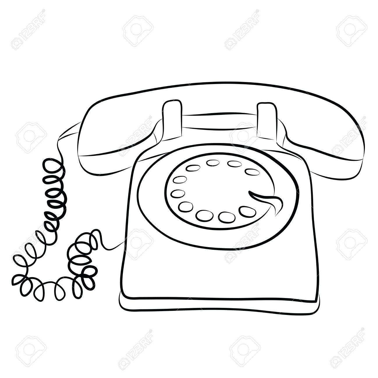 old telephone drawing at getdrawings com