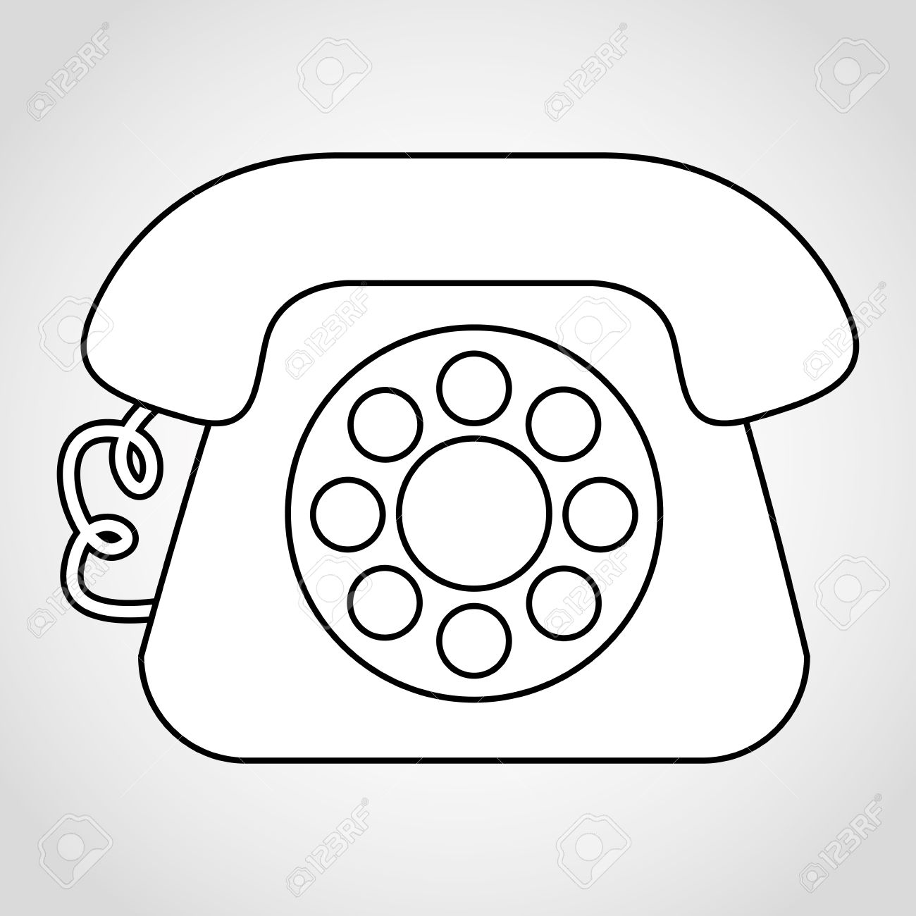 1300x1300 Old Telephone Design Royalty Free Cliparts Vectors And Stock