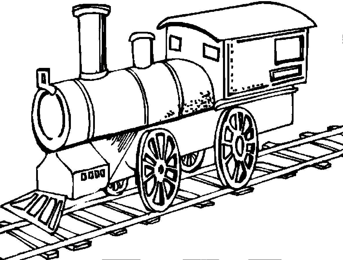 1186x900 Trains Are Running On The Track Coloring Pages