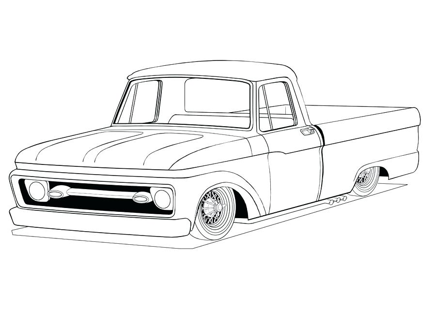 900x643 Old Truck Coloring Pages Classic For