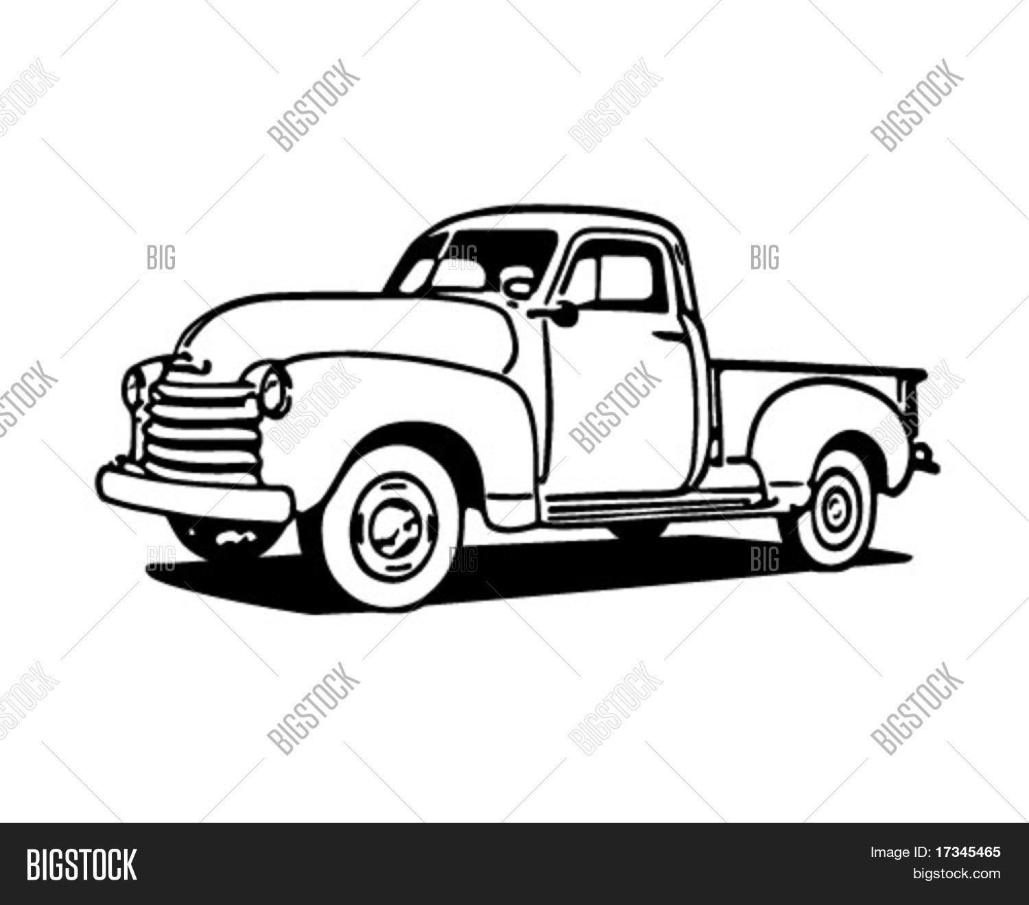Old Truck Drawing at GetDrawings.com | Free for personal use Old ...