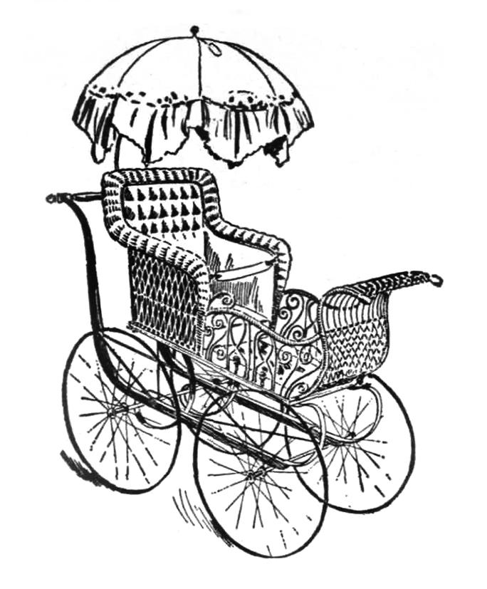 Old Wagon Drawing