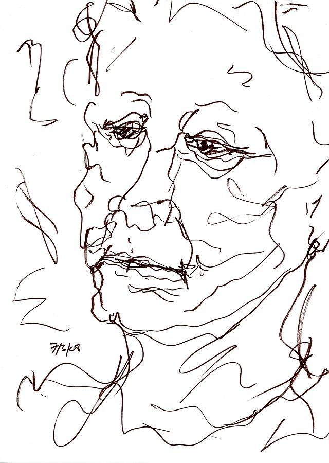 640x900 Old Woman Drawing By Rachel Scott