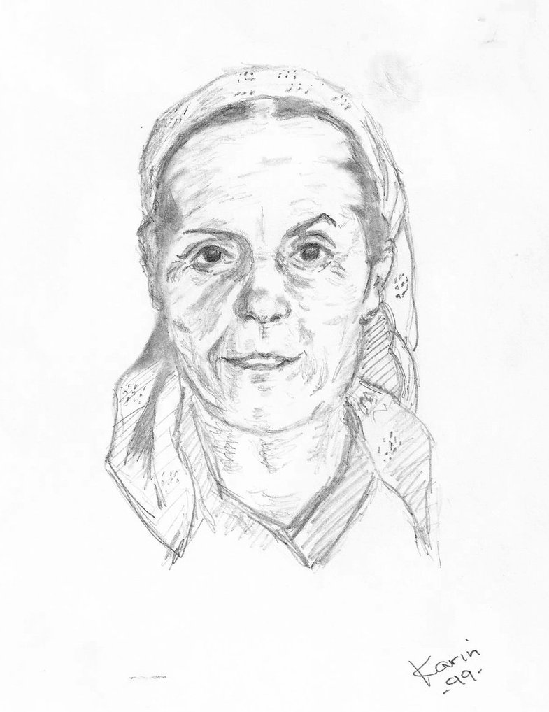 785x1018 Old Woman 2 Practice Drawing By Karinclaessonart