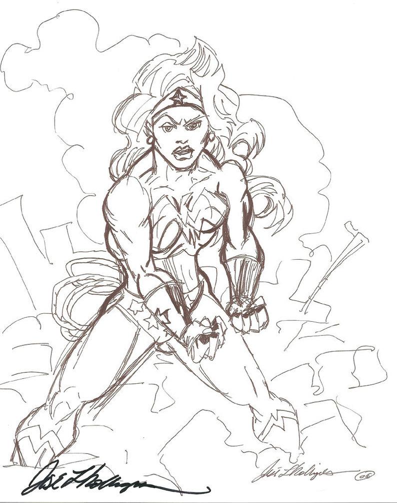 794x1005 Old Wonder Woman Drawing By Joselrodriguesart