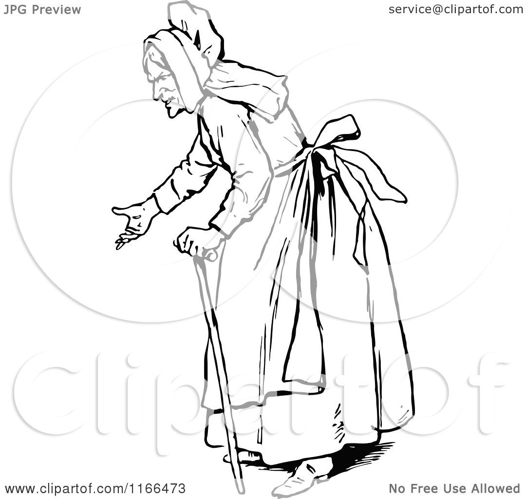 1080x1024 Clipart Of A Retro Vintage Black And White Old Woman Gesturing