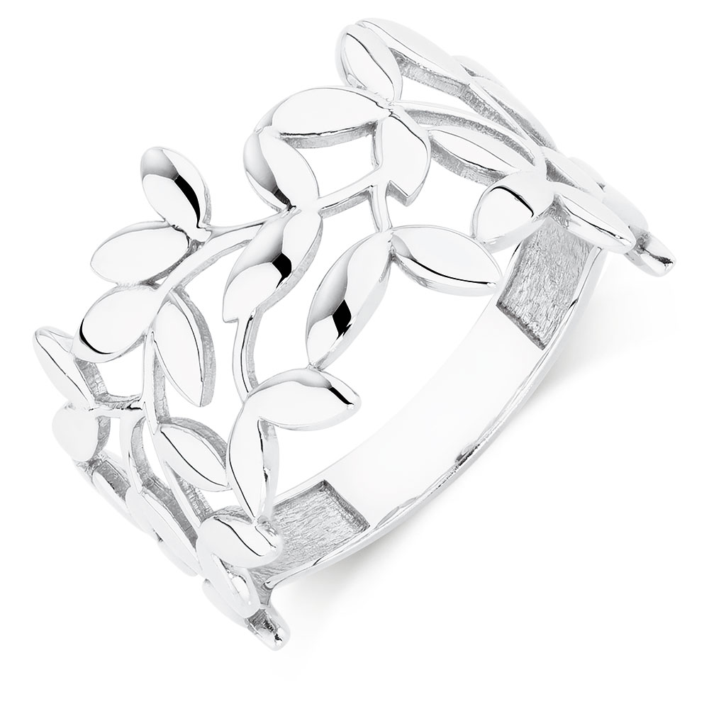 1000x1000 Olive Leaf Ring In Sterling Silver