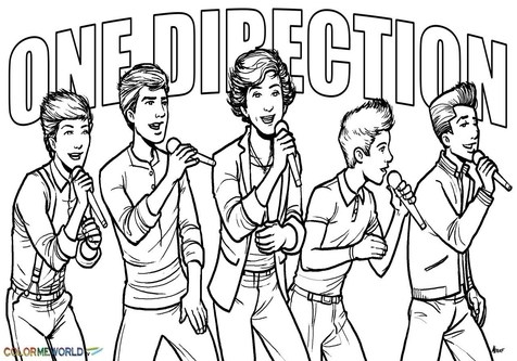 476x333 Fundamentals One Direction Printable Coloring Pages For Girls