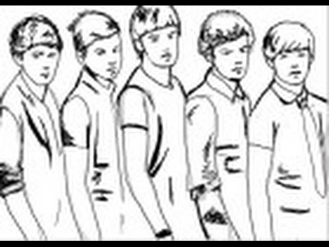 480x360 How To Draw The Boy Band One Direction
