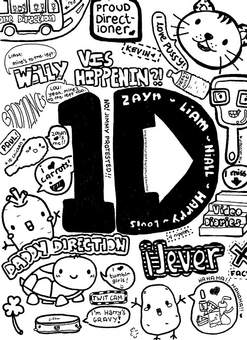 500x689 Image About Black And White In One Direction By Marian