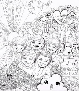 277x320 One Direction Free Printable Large Colouring Page For 1d Fans
