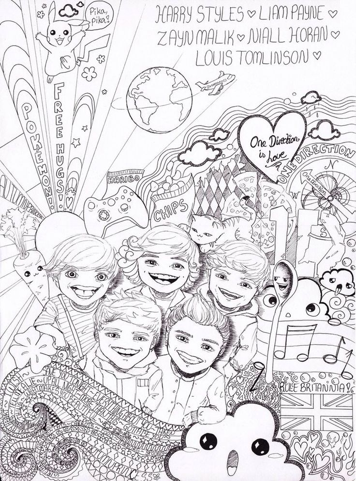 one direction cartoon drawing at getdrawings com free for personal one direction cartoon coloring pages coloring pages of one direction to print