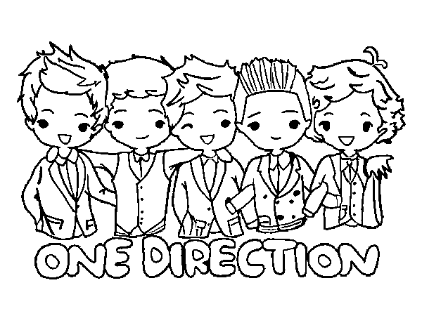 One Direction Cartoon Drawing at GetDrawings.com | Free for personal ...