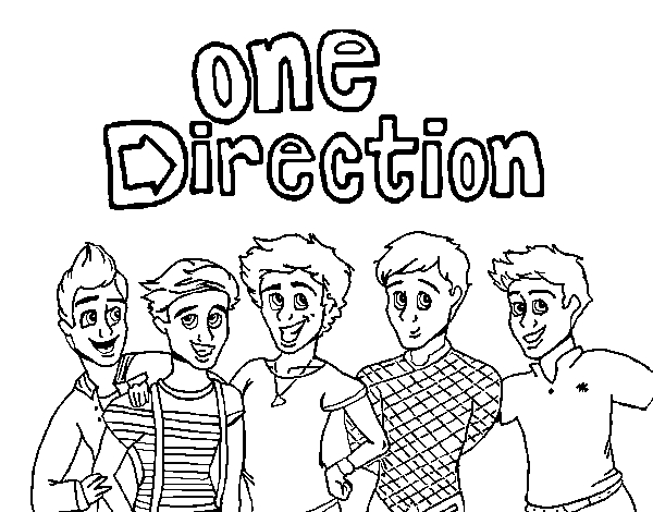 one direction coloring pages cartoon animals | One Direction Cartoon Drawing at GetDrawings.com | Free ...