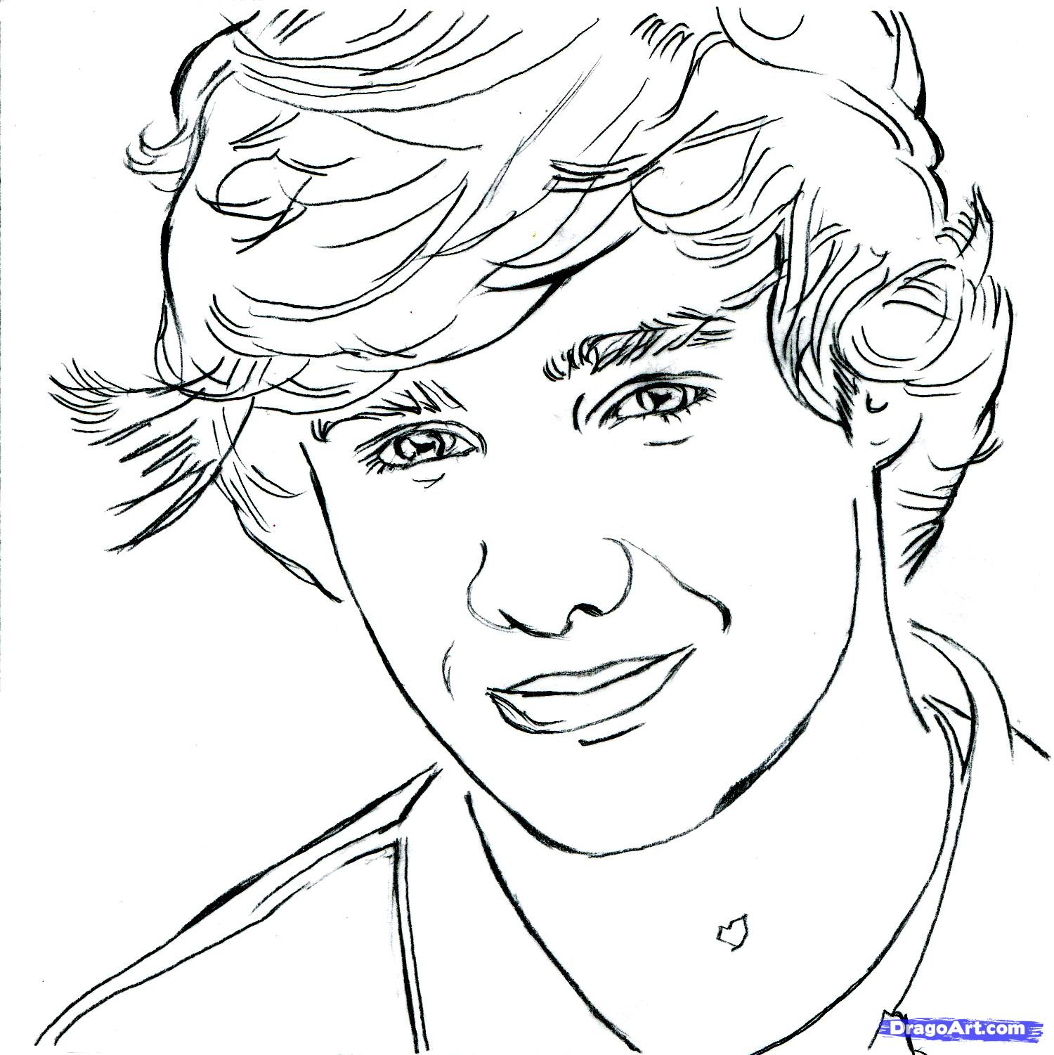 1500x1501 Liam One Direction Drawings Step 10 How To Draw Payne