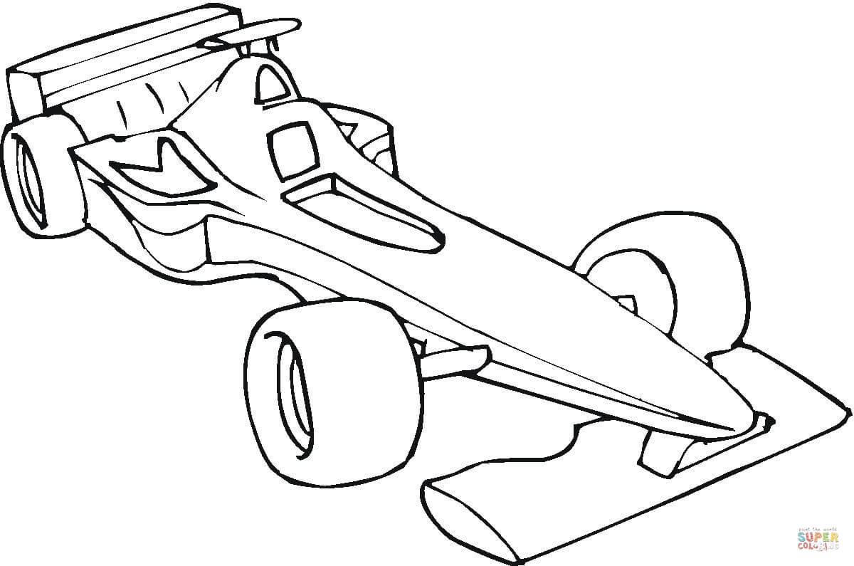 1200x795 Formula One Car Coloring Page Free Printable Coloring Pages
