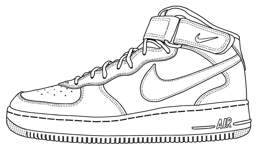 822x476 Air Force 1 Drawing