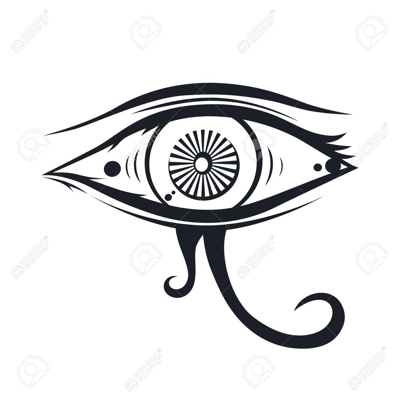 1300x1300 Horus One Eye Theme Vector Art Illustration Royalty Free Cliparts