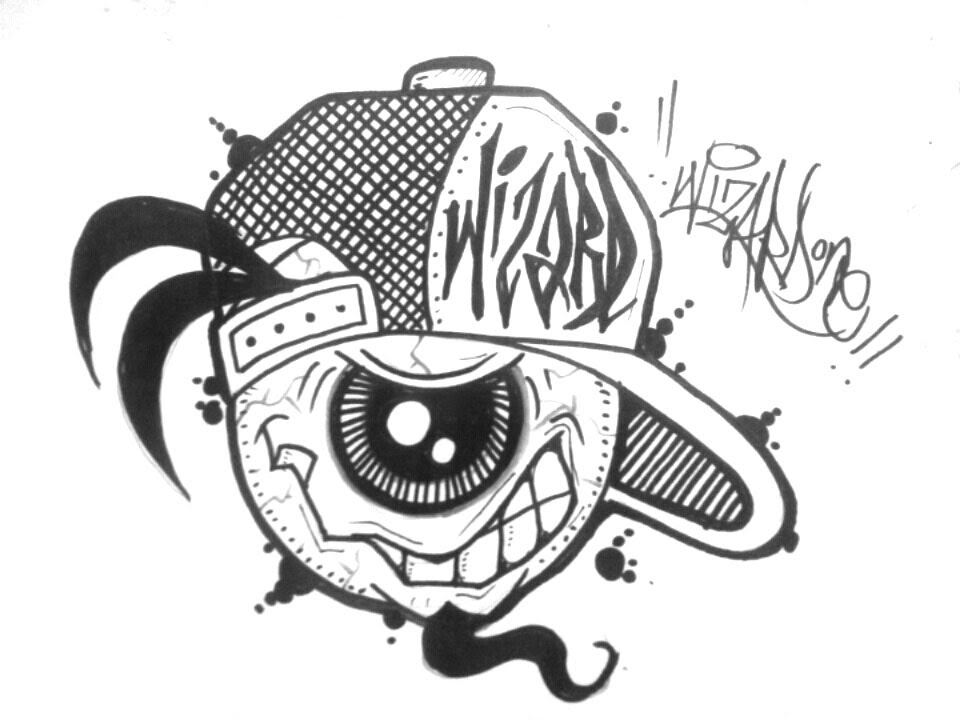 960x720 How To Draw A Graffiti Character With One Eye