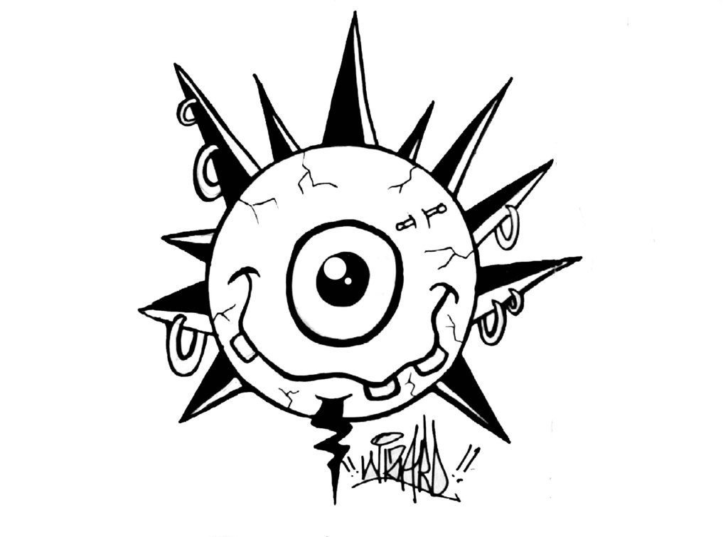 1024x755e Eye Graffiti Sticker By Wizard1labels