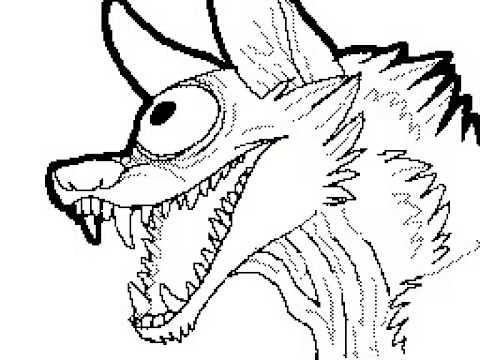 480x360 One Eye Wolf Speed Paint