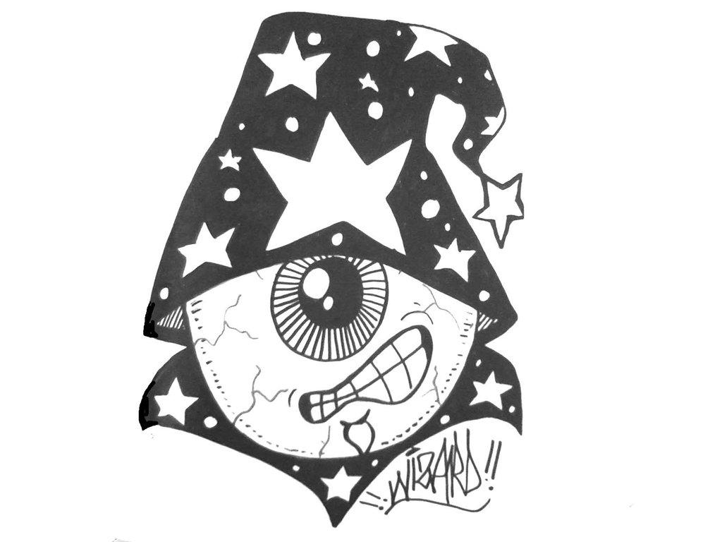1024x768e Eye Wizard Graffiti Sticker By Wizard1labels