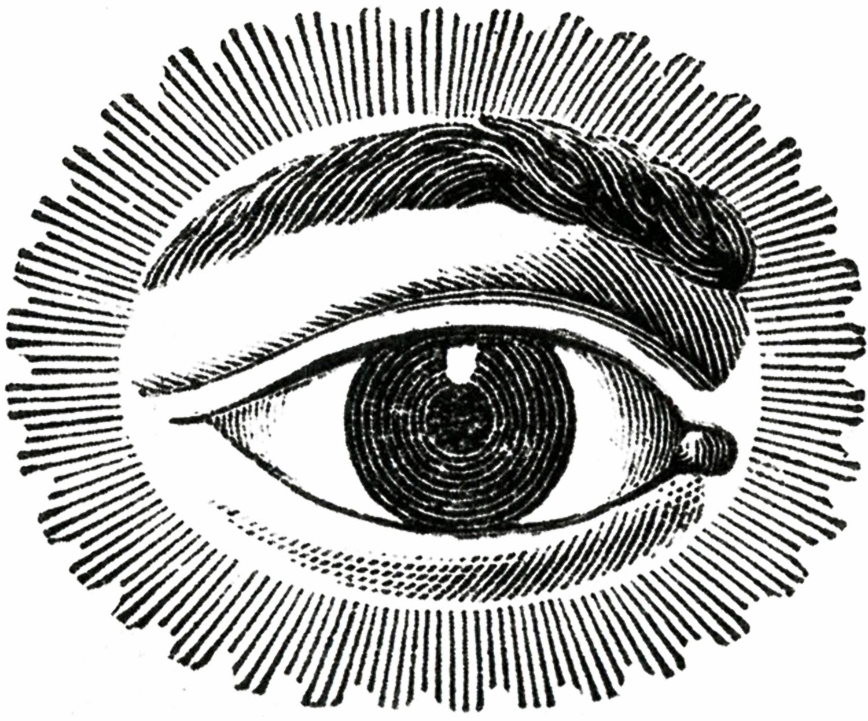1500x1247 Vintage Public Domain Round Free Public Domain Watching Eye
