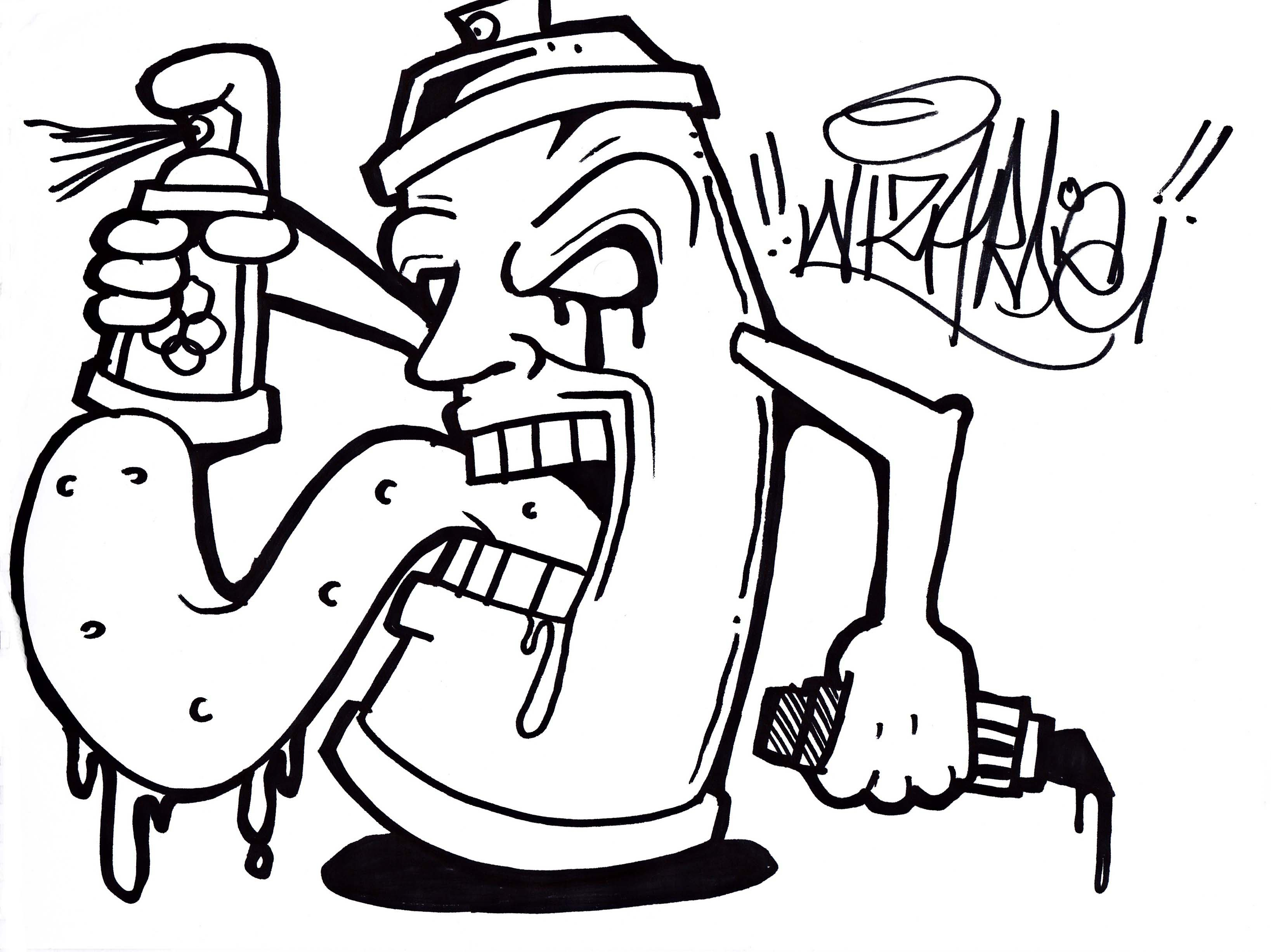 3275x2454 Graffiti Drawing Monster Monster Graffiti Drawing How To Draw
