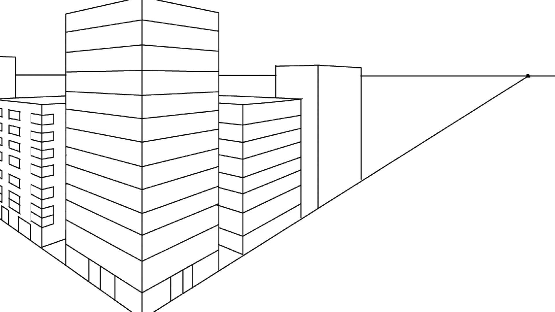 1920x1080 Constructing A Cityscape In Two Point Perspective