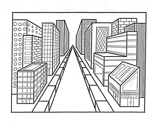 516x400 One Point Perspective Drawings Perspective, Perspective Drawing