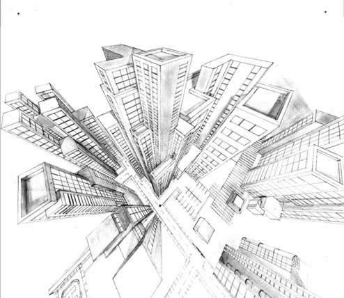 494x428 Three Point Perspective