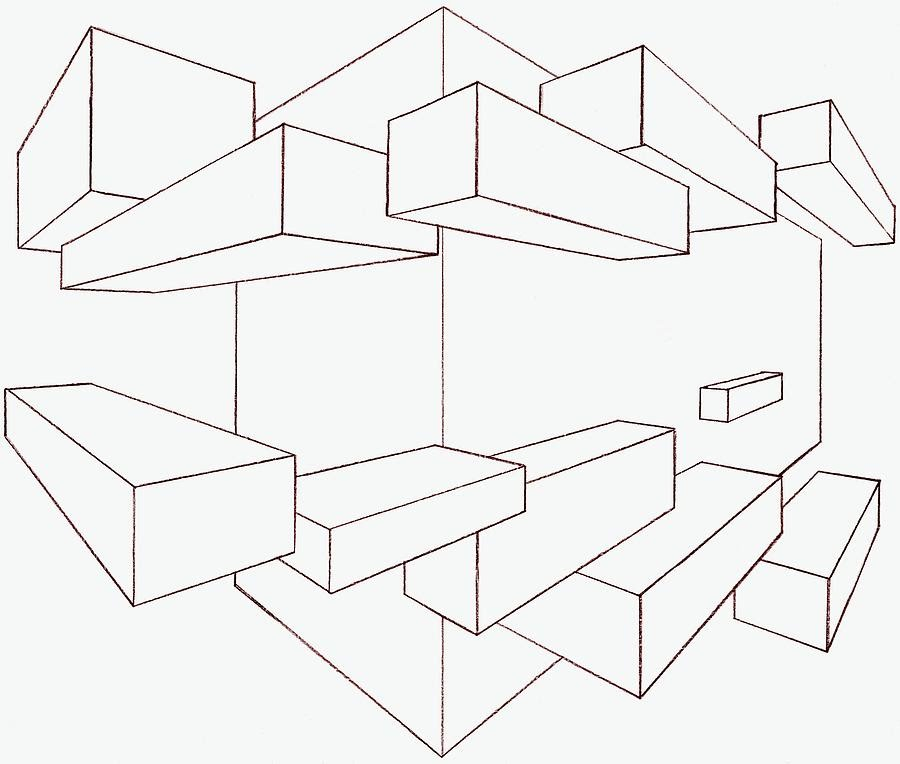 900x764 2 Point Perspective Drawing